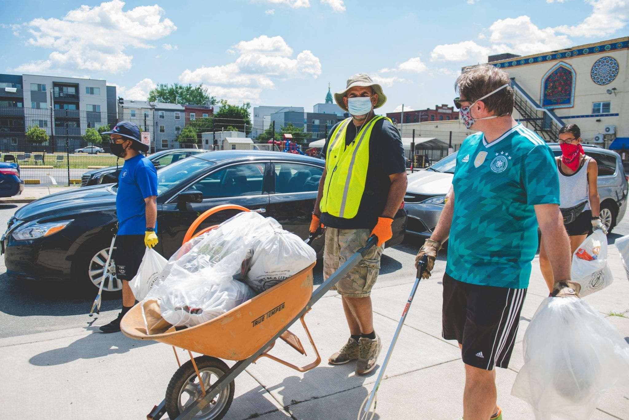 Clean up Philadelphia Sunflower Philly artists Photographer Videographer