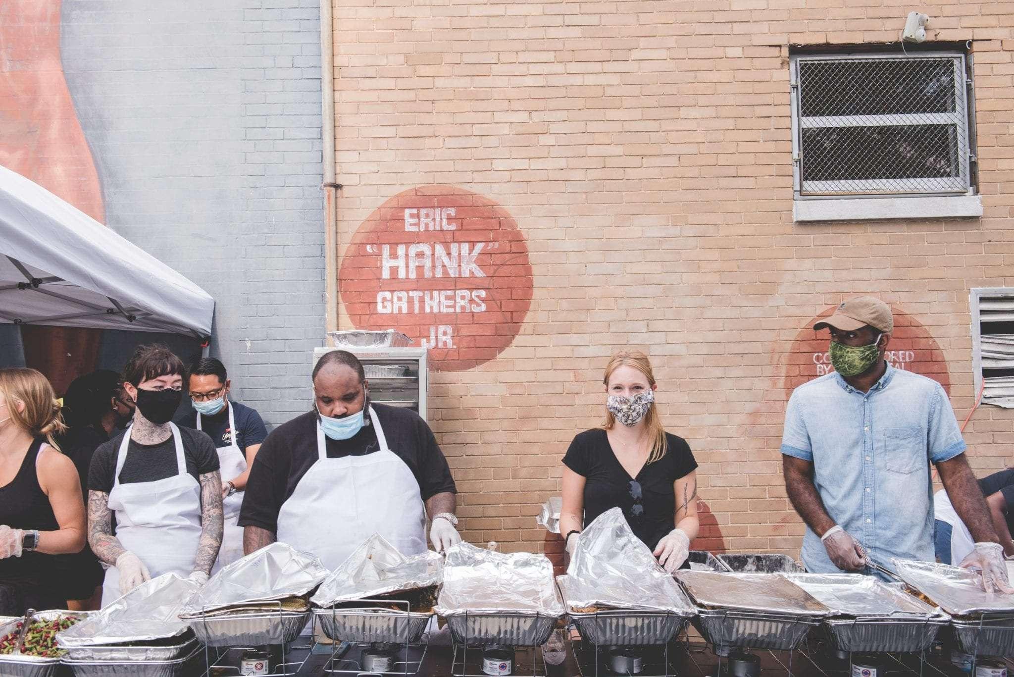 Eric Hank Gathers jr building philadelphia free food