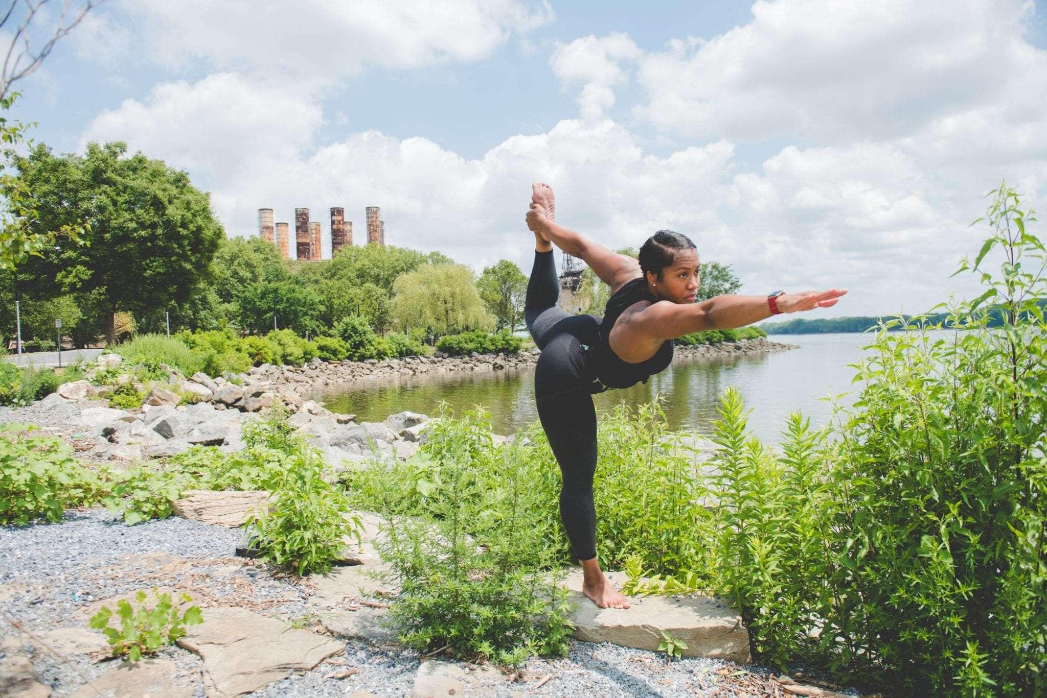 yoga branding session Philadelphia photographer Latasha Marie self help